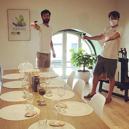 atelier dégustation 3 vins de BordeauxLe Pied à Terre